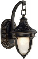 Dar Richmond Small Outdoor Wall Lantern Black And Gold Acorn