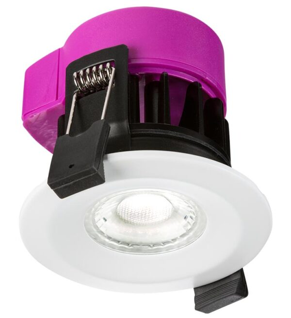 IP65 6w dimmable CCT LED fire rated downlight with colour change
