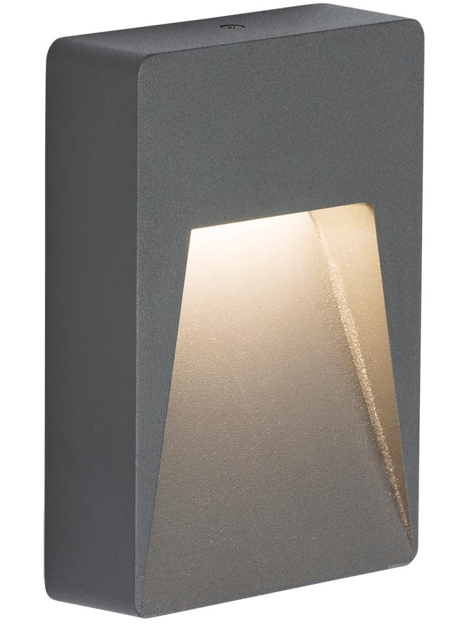 Surface mounted 2w LED outdoor guide light in anthracite IP54