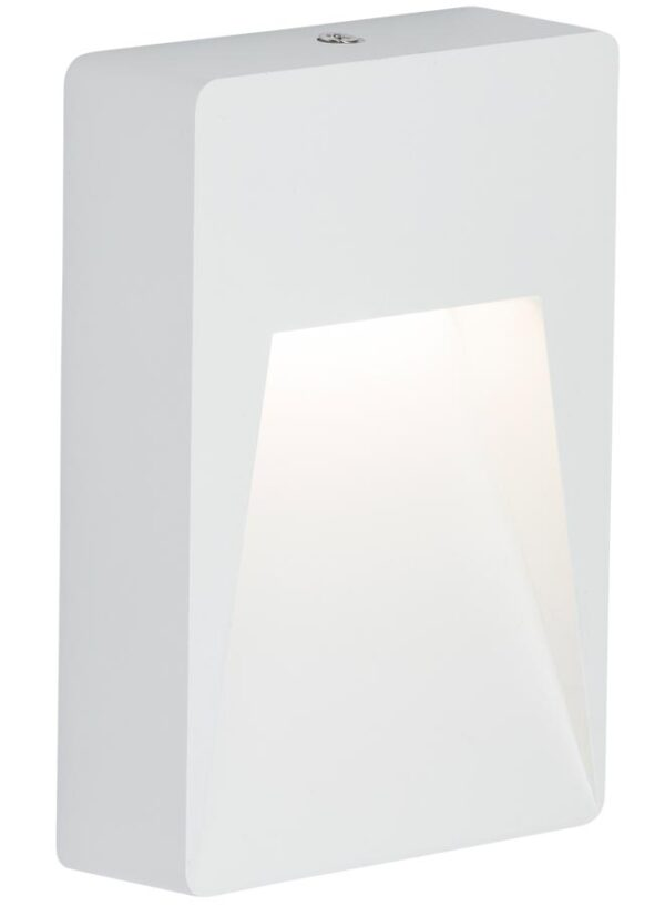 Surface mounted 2w LED outdoor guide light in white IP54