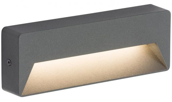 Surface Mounted 5w LED Letterbox Outdoor Guide Light Anthracite IP54