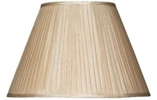 Pleated Taupe Faux Silk 43cm Tapered Table Lamp Shade