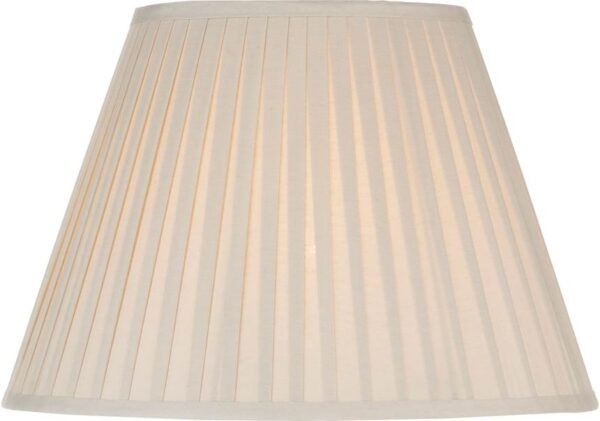 Ivory Fine Pleated Cotton 43cm Ely Table Lamp Shade