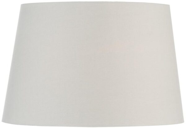 Ivory Faux Silk 43cm Tapered Drum Table Lamp Shade