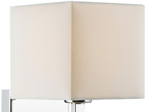 Dar Square 15cm Ivory Cotton Lamp Shade For Wall Lights