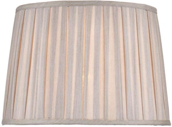 Taupe Pleated Fax Silk 36cm Mischa Table Lamp Shade