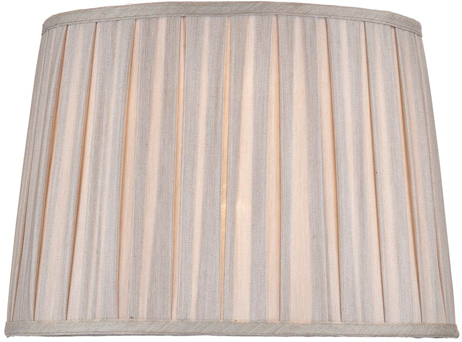 Taupe Pleated Fax Silk 36cm Mischa Table Lamp Shade S1118