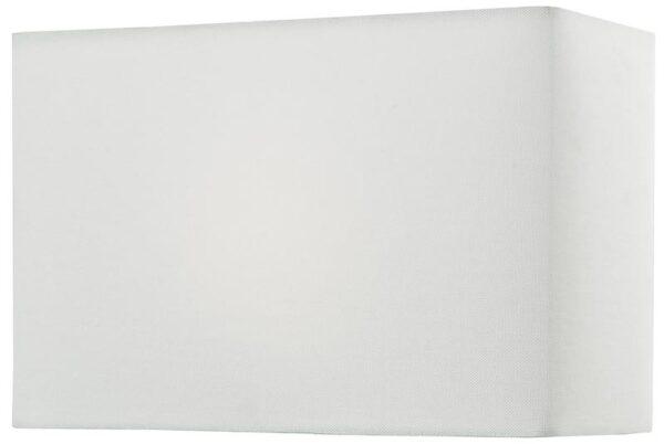 Dar Rectangular 35cm Ivory Linen Table Lamp Shade