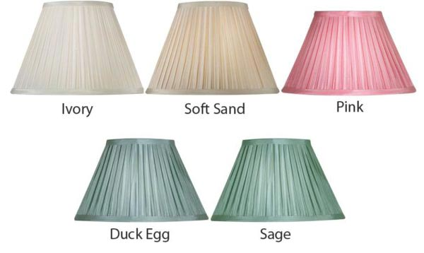 Box Pleat Faux Silk 12 Inch Lamp Shade Choice Of Colours