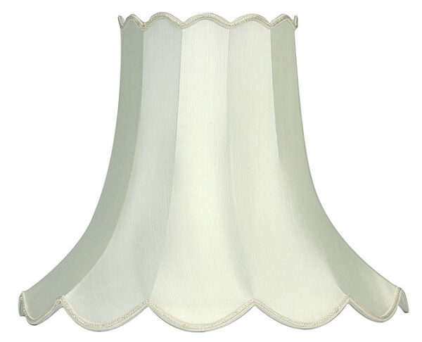 Traditional Ivory 20 Inch Scalloped Fabric Floor Lamp Shade