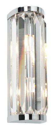 Chrome And Crystal 2 Light Bathroom Wall Lamp