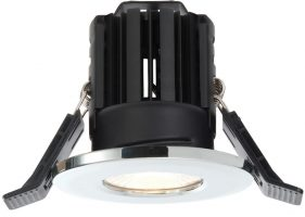 Shield Chrome Dimmable 11w LED Fire Rated IP65 Downlight Warm White