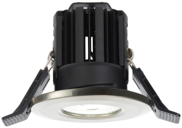 Shield Nickel Dimmable 11w LED Fire Rated IP65 Downlight Warm White