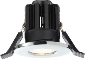 Shield Chrome Dimmable 11w LED Fire Rated IP65 Downlight Cool White