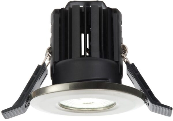 Shield Nickel Dimmable 11w LED Fire Rated IP65 Downlight Cool White