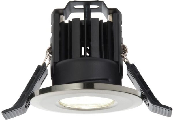 Shield IP65 Satin Nickel Fire Rated 8w Cool White LED Downlight