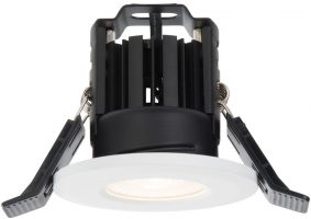 Shield IP65 Matt White Fire Rated 8w Warm White LED Downlight