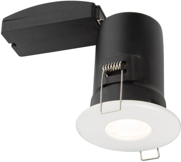 Shield Plus Matt White Fire Rated IP65 Bathroom Shower Light
