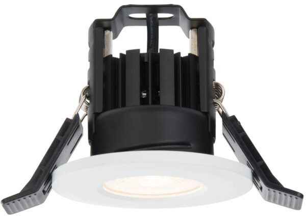 Shield IP65 Matt White Fire Rated 5w Warm White LED Downlight