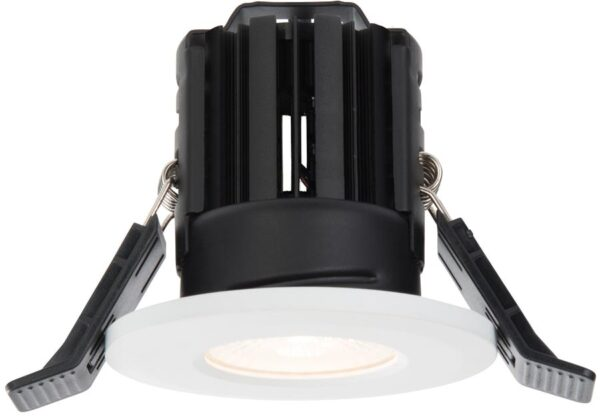 Shield White Dimmable 11w LED Fire Rated IP65 Downlight Warm White