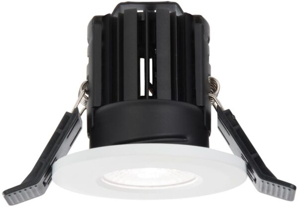 Shield White Dimmable 11w LED Fire Rated IP65 Downlight Cool White