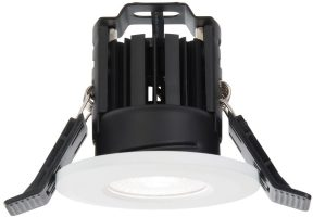 Shield IP65 Matt White Fire Rated 8w Cool White LED Downlight