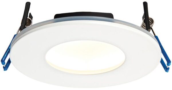 OrbitalPlus White Dimmable 9w LED Fire Rated IP65 Downlight Warm White