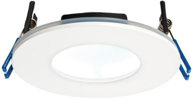 OrbitalPlus White Dimmable 9w LED Fire Rated IP65 Downlight Cool White