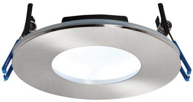 OrbitalPlus Nickel Dimmable 9w LED Fire Rated IP65 Downlight Cool White
