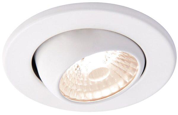 Shield Matt White 10w Warm White Fire Rated LED Tilt Downlight