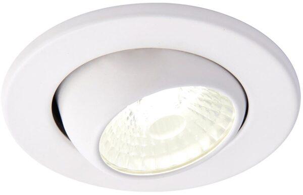 Shield Matt White 10w Cool White Fire Rated LED Tilt Downlight