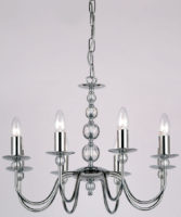 Chrome And Glass 8 Lamp Dual Mount Chandelier