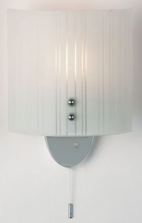 Curved Striped Glass Switched Wall Washer Light