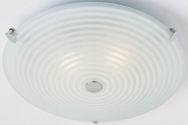 Traditional Clear And Opal Glass Flush 2 Light Fitting