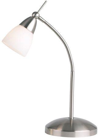 Satin Chrome Adjustable Flexible Desk Touch Lamp