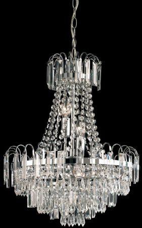 Amadis 6 Light Chrome Pendant Chandelier Glass Drops