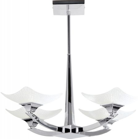 Ayres Chrome Art Deco Style 4 Lamp Ceiling Light