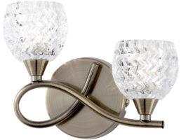 Boyer Antique Brass Left Hand 2 Lamp Wall Light