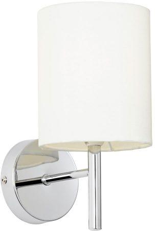 Brio Chrome Single Wall Light Ivory Shade