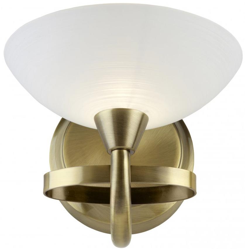 Brass Single Wall Lights : Cagney Modern Antique Brass Single Wall Light CAGNEY-1WBAB