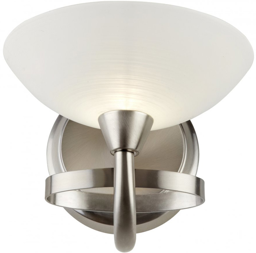 Wall Lights Satin Chrome : Cagney Modern Satin Chrome Single Wall Light CAGNEY-1WBSC