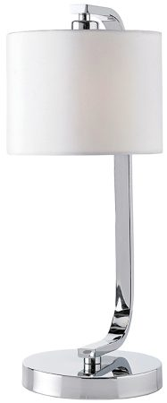 Canning Modern Chrome Touch Table Lamp And White Shade