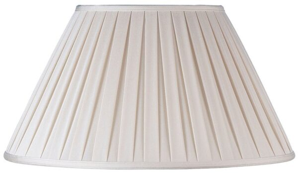 Carla Cream Box Pleated 6 inch Clip On Lamp Shade