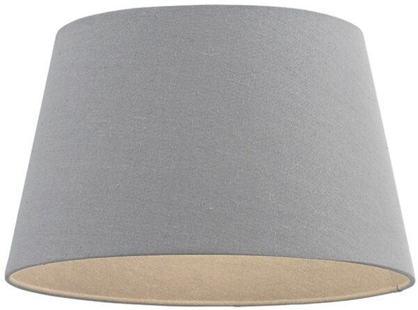 Cici Grey Fabric 16 Inch Tapered Ceiling Table Lampshade