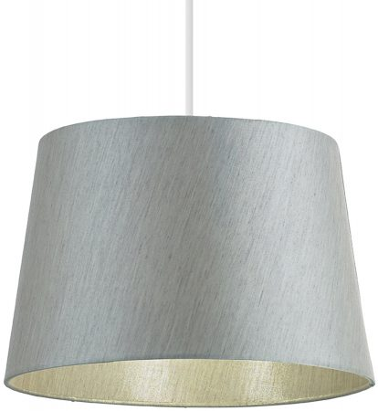 Cordelia Silver 12 inch Faux Silk Ceiling Table Lampshade