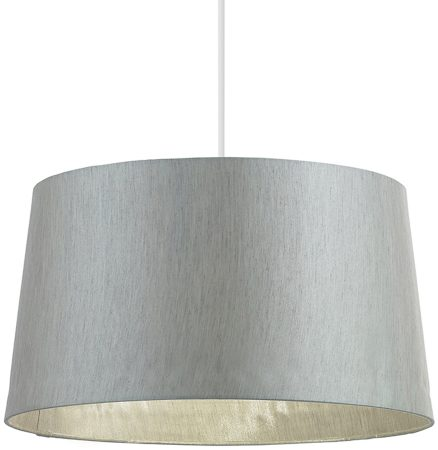 Cordelia Silver 16 inch Faux Silk Ceiling Table lamp Shade