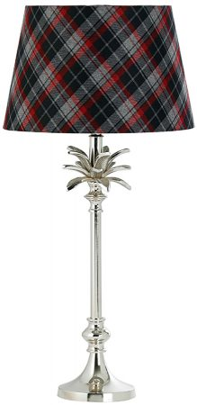 Polished Nickel Leaf Table Lamp Base