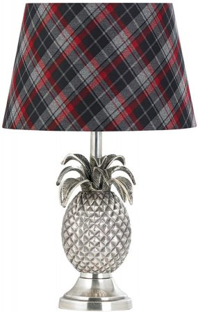 Pewter Pinapple Table Lamp Base Only