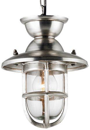 Small Tarnished Silver Lantern Kitchen Pendant Light