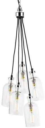 Velino 5 Light Clear Glass Cluster Ceiling Pendant
